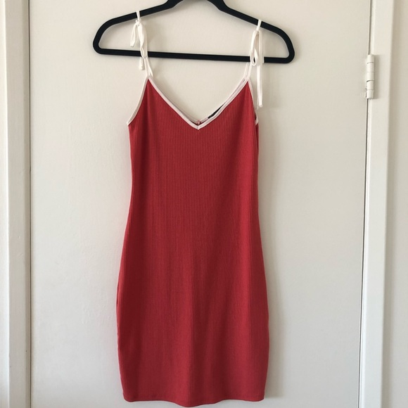 Forever 21 Dresses & Skirts - Forever 21 Red with White Bow Dress